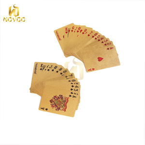 Embossed 24k 999.9 waterproof Plastic Gold Foil Plated Playing Cards
