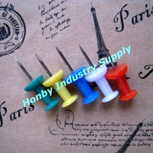 China Honby Handle Shaped Plastic Head Push Pins For marking