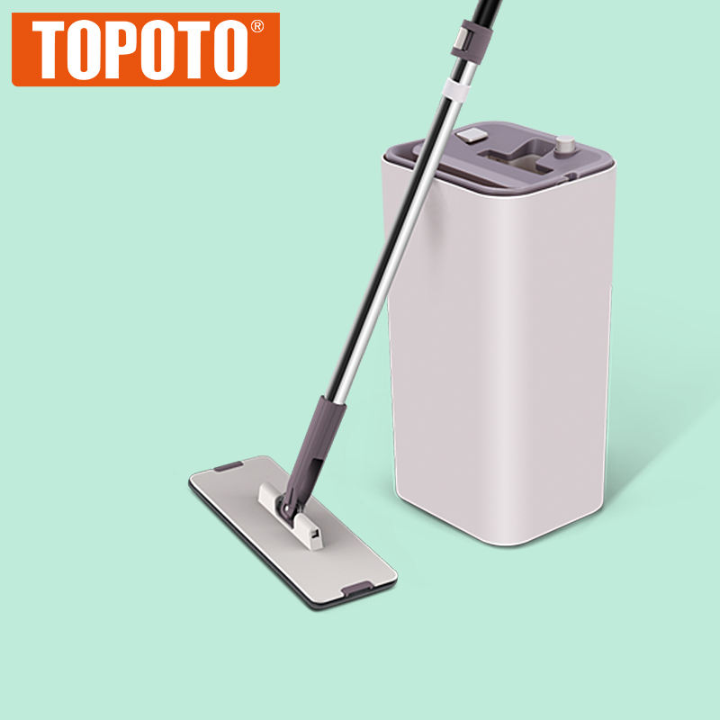 TOPOTO Self Squeeze Single Bucket Spin Magic Mop