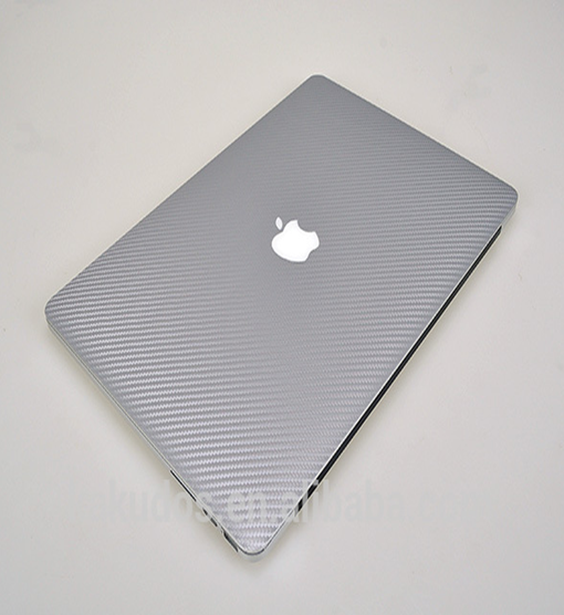 Silver skin adhesive sticker paper for Macbook Pro with top cover palmrest and bottom skins