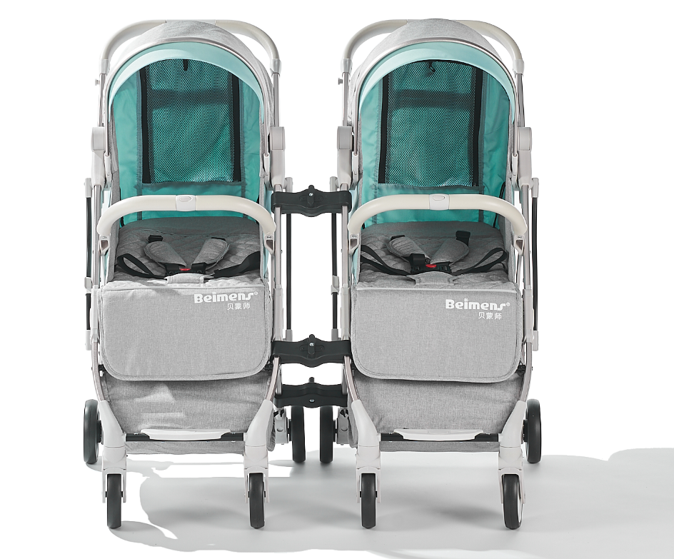 twins two seat stroller for kids / baby stroller for two babies / children twin stroller