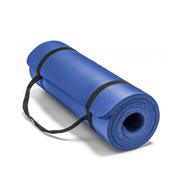 1/2 Inch Extra Thick High Density Exercise Yoga Matt with Carrying Strap
