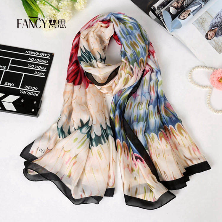 Alibaba Muslim Hijab Scarf Wholesale with Pastel Color Printed