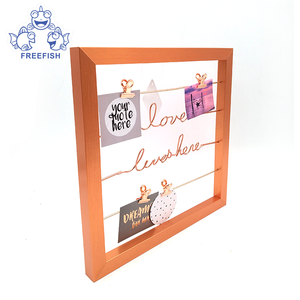Clip Photo Holder  Photo Collage Frame  Large Picture Display Frame with Wood Clothespin Clips for Hanging Home Decoration