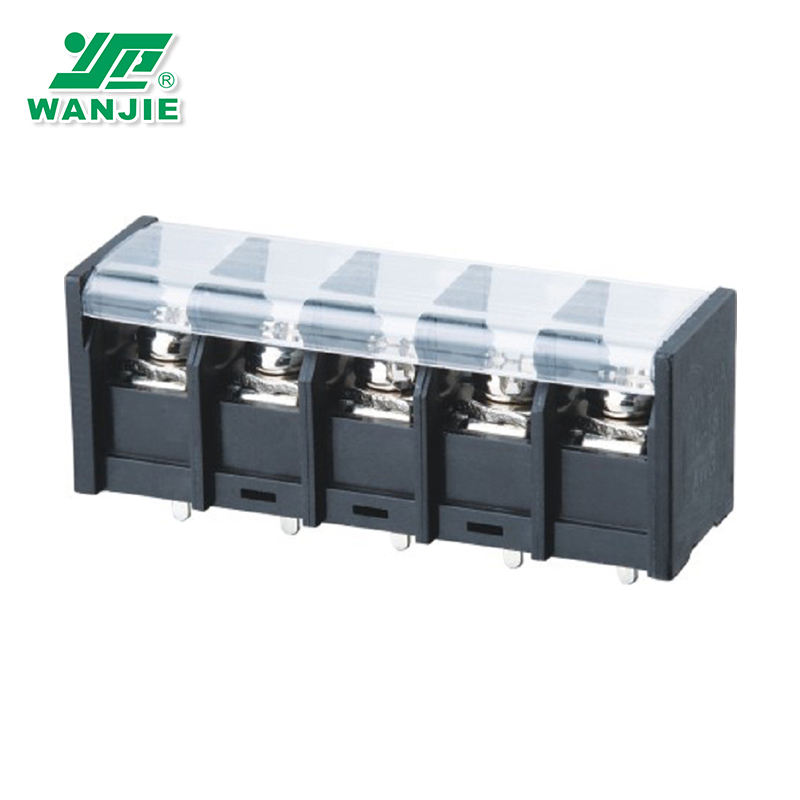 Panel mounted electronic components barrier terminal blocks 11mm pitch with cover (WJ68C/68S/68H/68R)