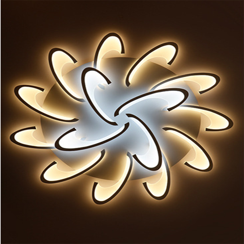 Warm white modern iron and acrylic material ceiling light led