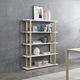 High Gloss White Wood Dustproof luxury Corner 5 Layer Bookshelf