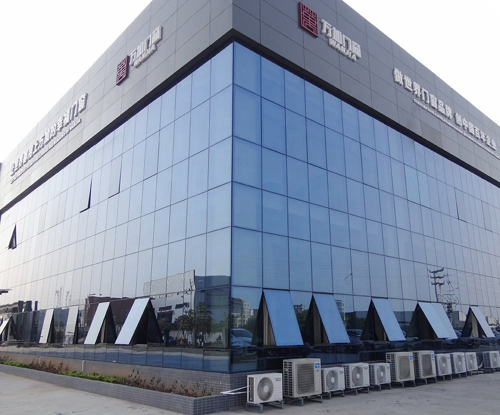frameless tempered glass curtain wall from china manufacturer