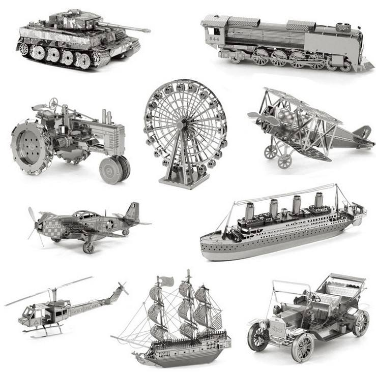 3D Metal works model diy Stereo Puzzle Construction Toys Classic Building