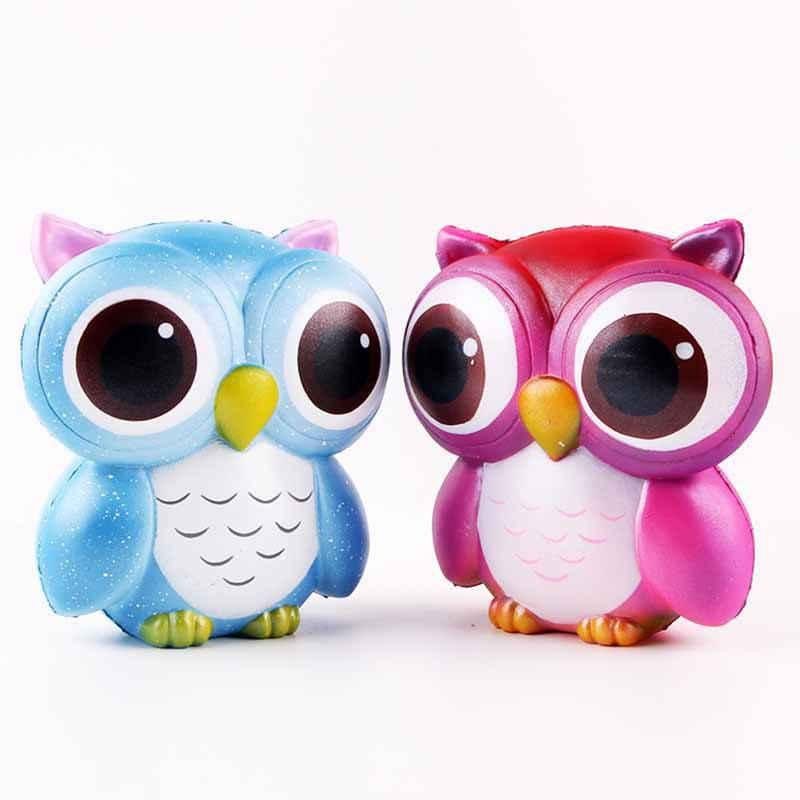 wholesale soft pu animal squishy toys 13CM Jumbo Owl toy slow rising, soft and good smelling anti-stress Decompress toy