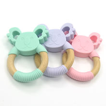 Baby Raccoon Teether Toothbrush Training Silicone  animal  Shape Toys for Kids Baby Dental Care Baby Teeth