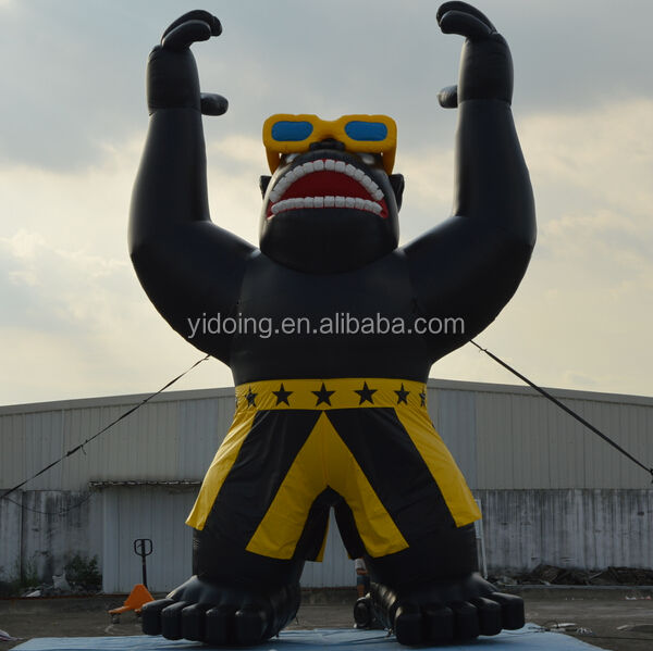 Top quality car wash inflatable gorilla cold air balloon for advertising K2083-4
