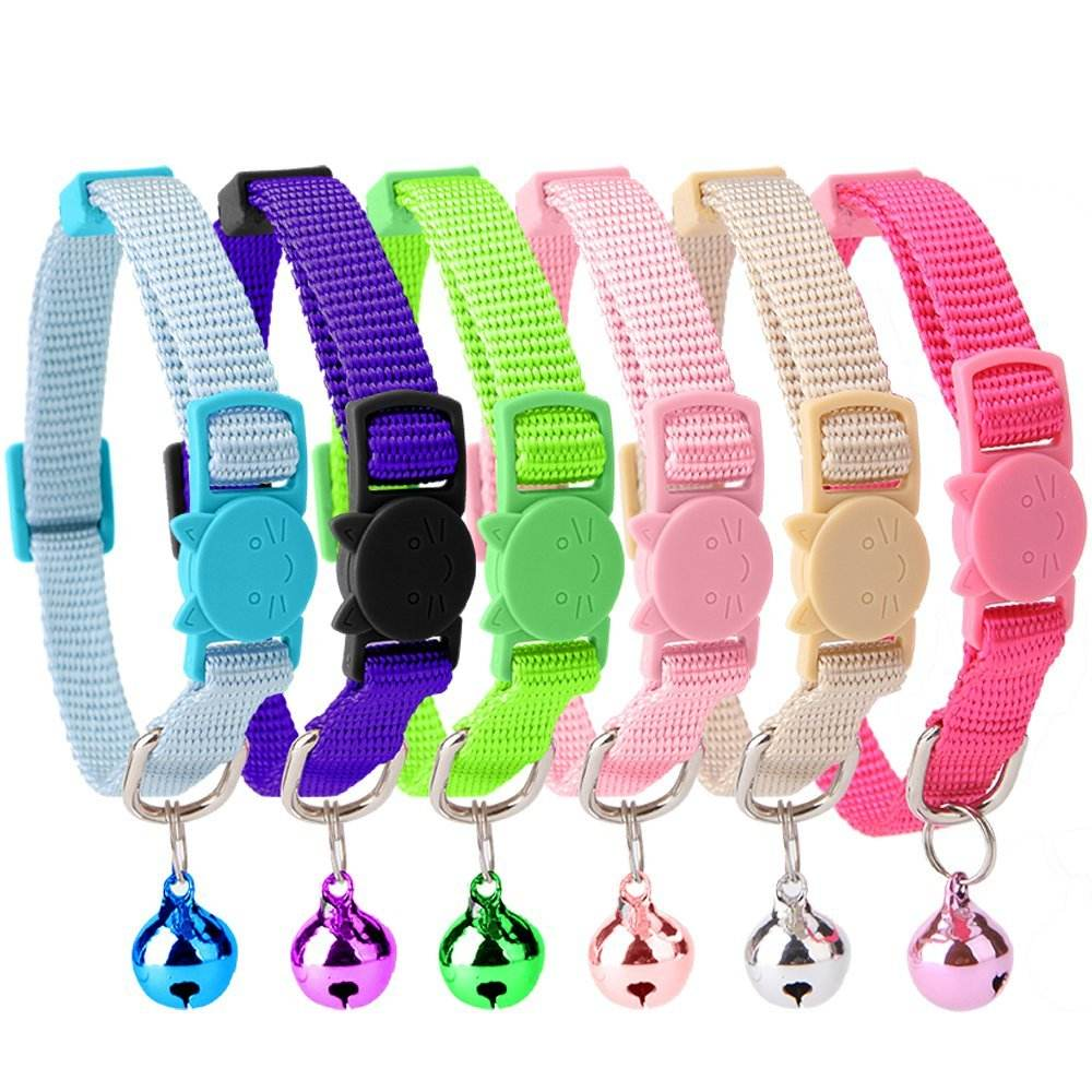Factory Price Polyester nylon Breakaway Cat Collar With Bell