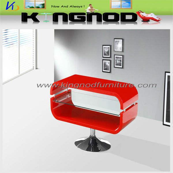 meuble tv en bois courbé