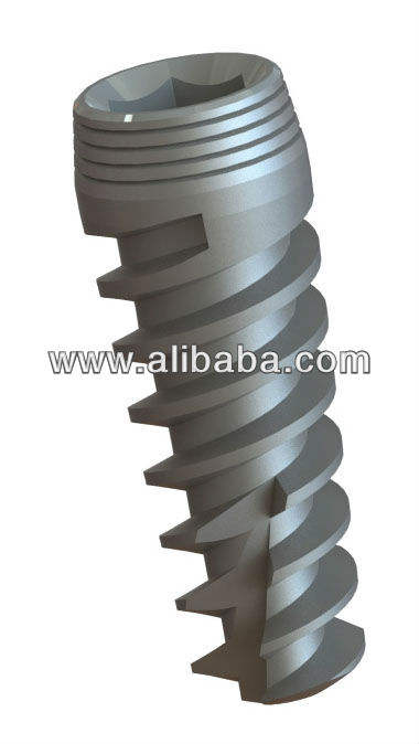 Dental Spiral Cone Shape Implant - Titanium