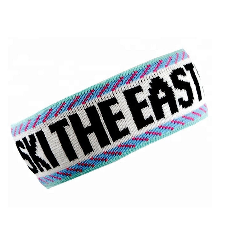 Wholesale High Quality Unisex Custom Logo Knitted sweatband