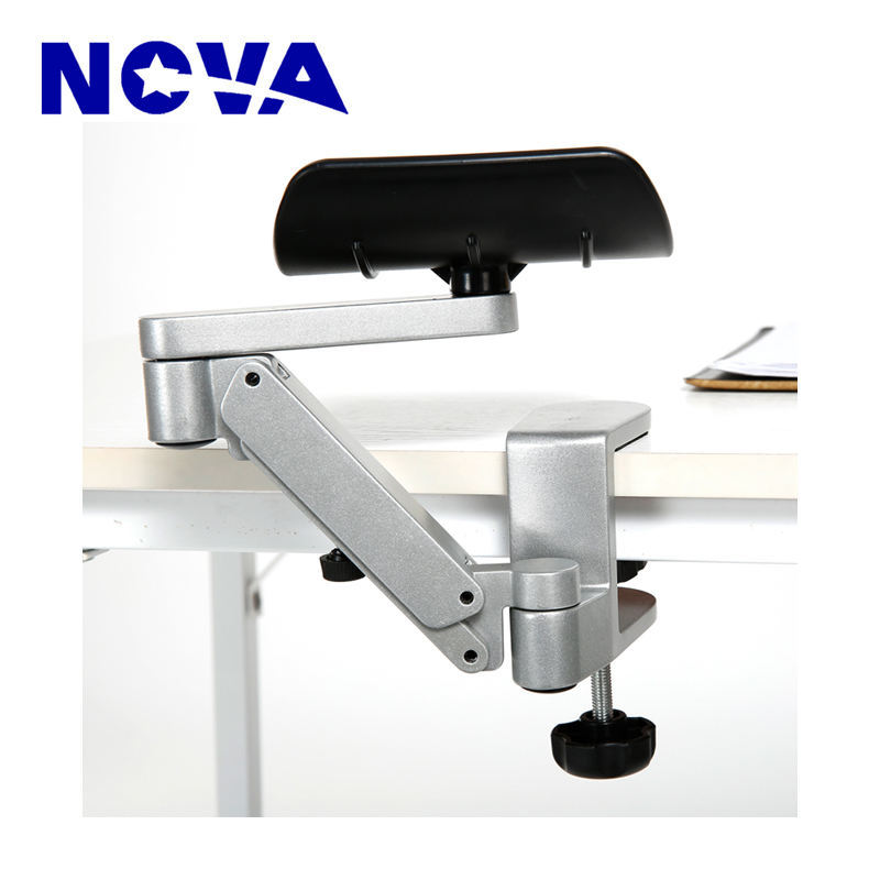 Adjustable Height Aluminum Alloy Armrest For Laptop Computer Desk