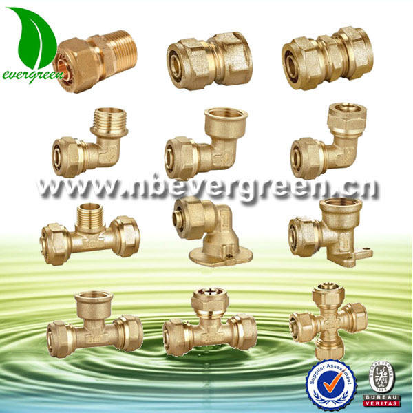 Brass Compression Fittings for pex-al-pex pipes