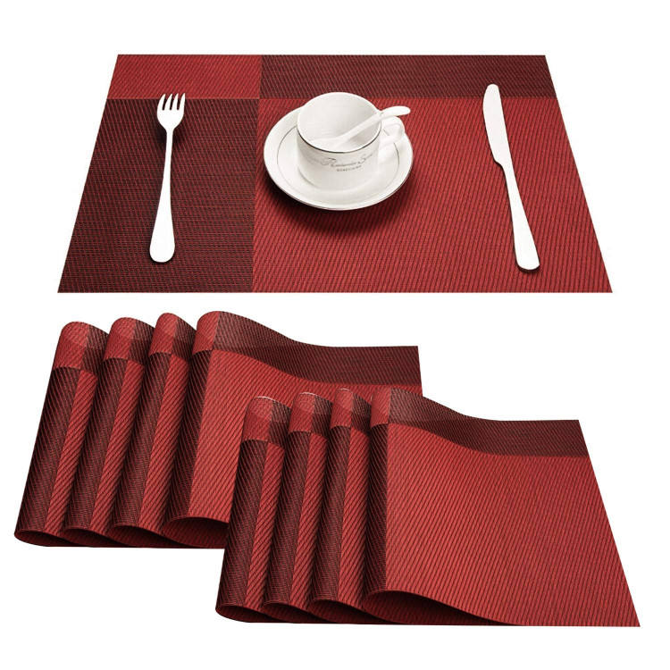 Plastic Table Mats Set of 8,Heat Resistant Washable Place Mats for Dinner Table