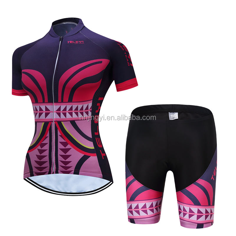 racing sport short jersey bike uniform cycling bibset women jersey