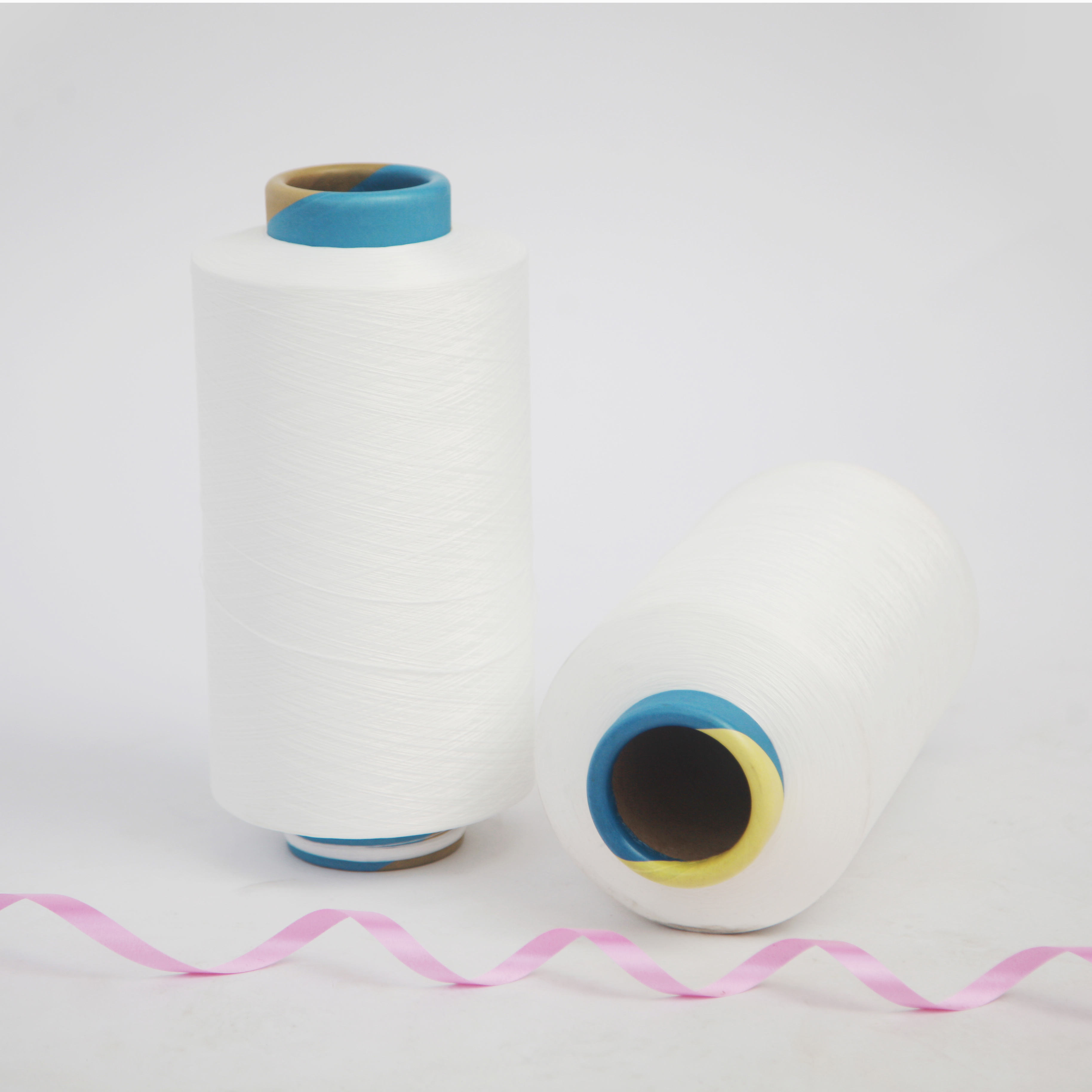 Durable even weight 75/144f+40d core spun dyed air spandex covered yarn for knitting and weaving
