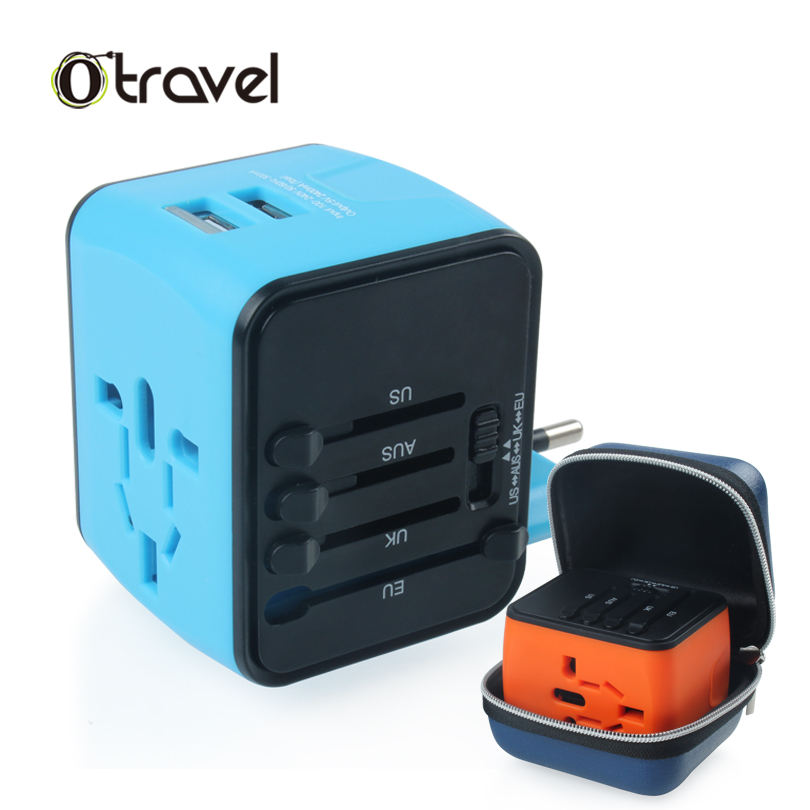 4 in 1 adapter reizen Universele adapter reizen converter au eu uk adapter plug met usb travel adapter