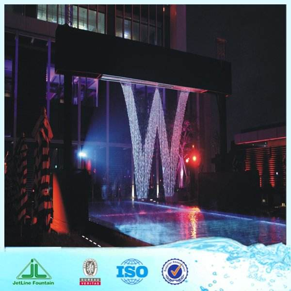 decorative glass water fountain  with digital logo or light  digital water fountain