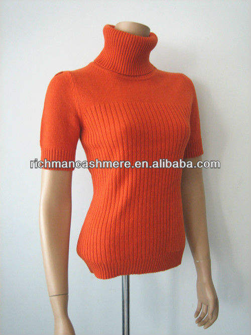 Mock Neck Ribbed Pullover 2013