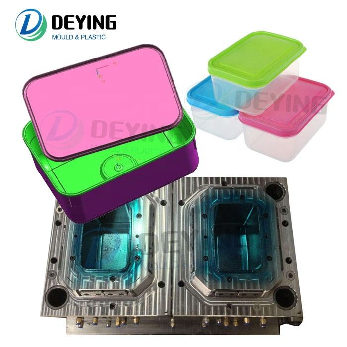 2020 trending products disposable plastic injection thin wall food lunch box container mould for sale