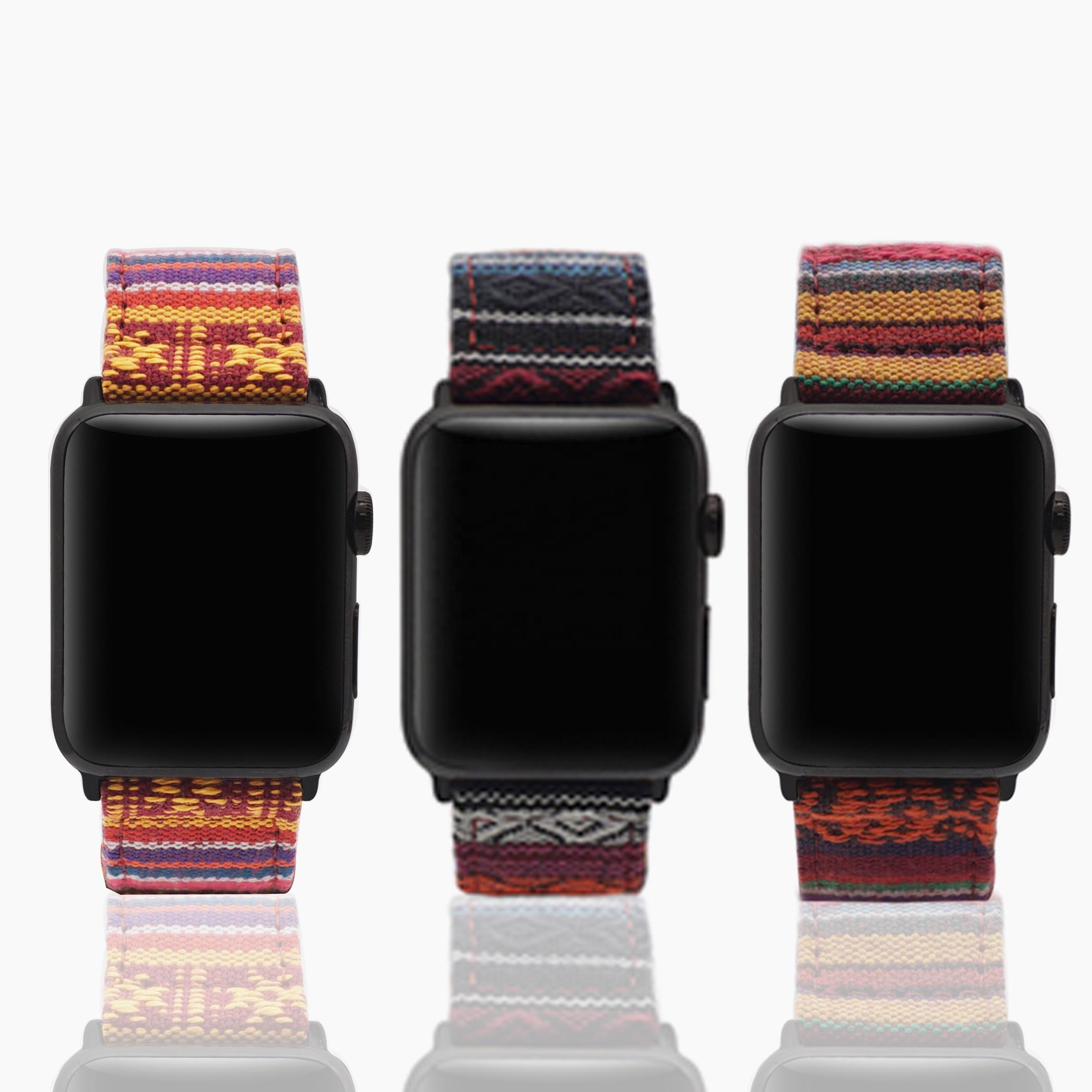 JUELNOG Donne Unisex Tessuto Cinturino in Tessuto di Nylon Watch Band per Apple Watch Band