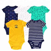 Random Design 100% cotton short sleeve onesie baby girl&boy romper