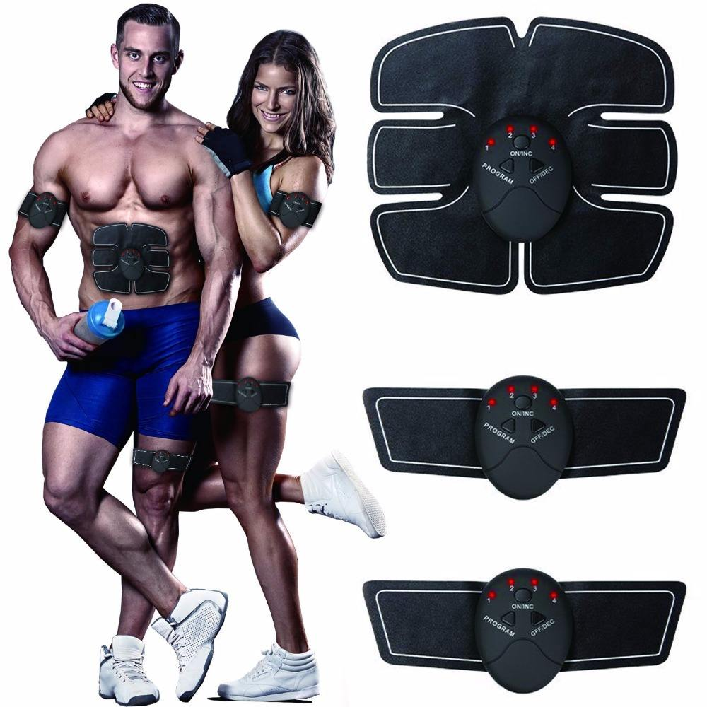 Abdominal Muscle Trainer, Fitness Slimming Body Sculptor Muscle Trainer ab Gymnic Belt Massager Pad Abdominal Muscle Exerc
