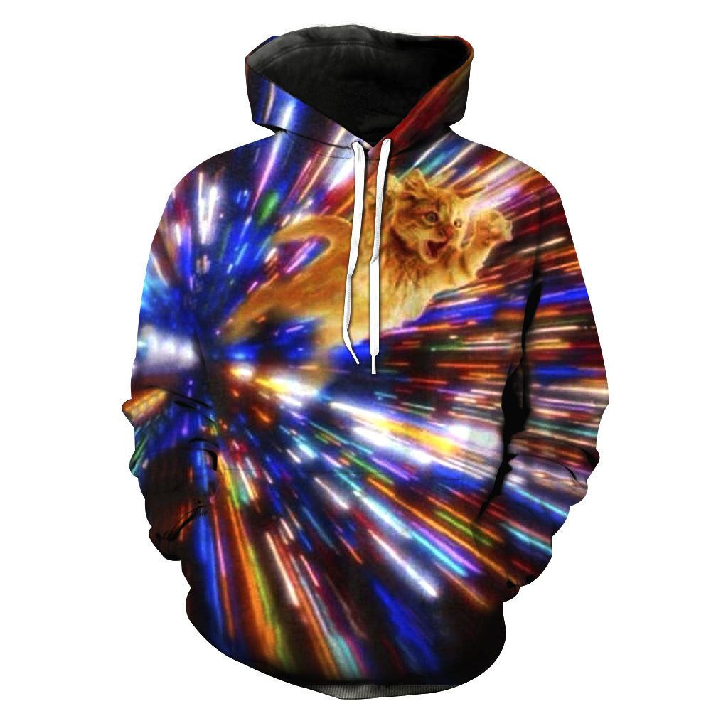 Kitty Cat Vortex Hoodies Sublimation Printed Hoodies Long Sleeve Tracksuits Hoodies