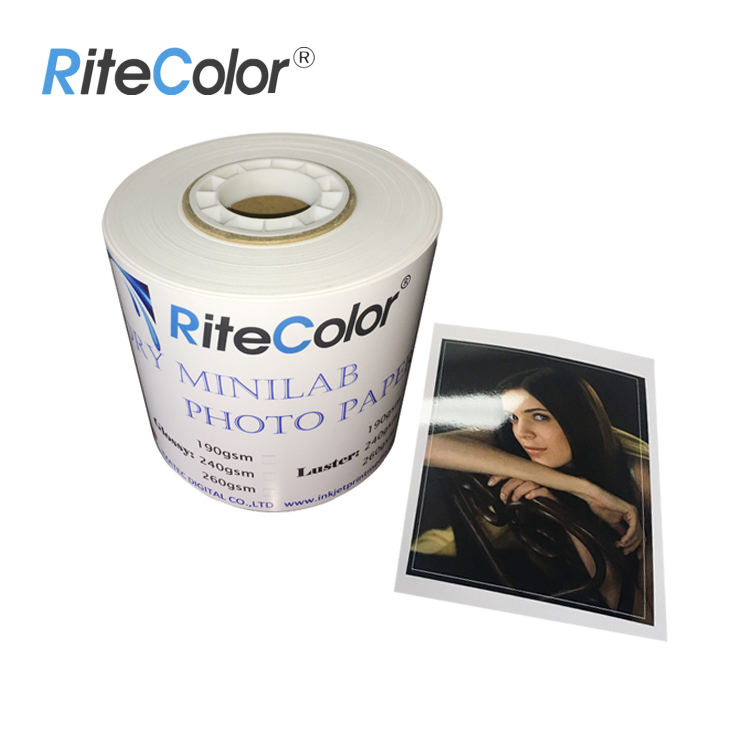 High Quality Minilab 5/6/8/10/12 Inkjet Glossy RC Photo Paper For Epson