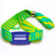One-time use custom uhf fabric rfid woven wristband NFC bracelets with your own logo