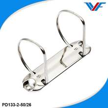 Metal big D 2 ring binder clip