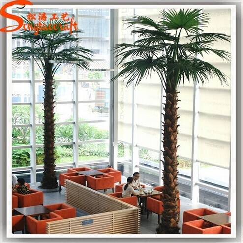 Todos los tipos de interior decorativa plantas falsas stlylized tropical metal palmera artificial
