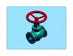 y pattern rising stem electric actuator globe valve