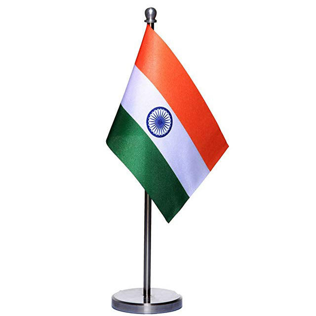 Custom different size Indian table national flags