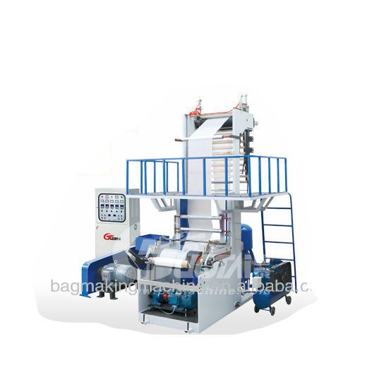 PE mini film blowing machine with Integral type & single winder for hdpe/ldpe/lldpe