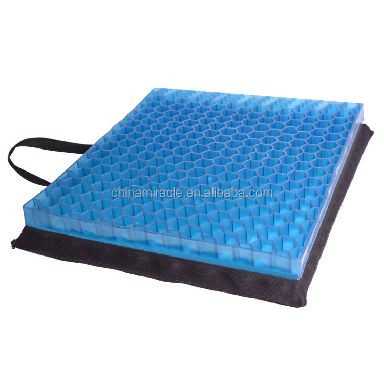 New designed Coccyx Orthopedic TPR TPE Cooling Gel Seat Cushions With ANTI-SLIP Bottom