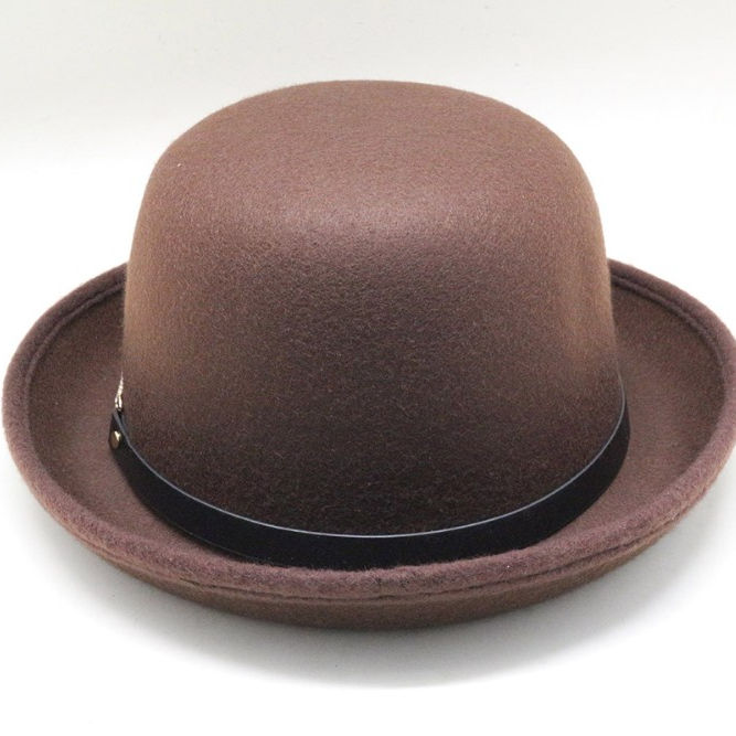 fashion multicolor wool felt hat bowler hats small round cap fedora hat for women