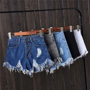 Skinny Denim Ripped Denim Jean Women Shorts