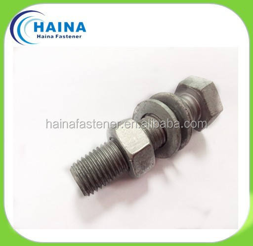 Bolts And Nuts Suppliers Hot Dip Zinc STEEL Galvanized Price Hex Bolt And Nut