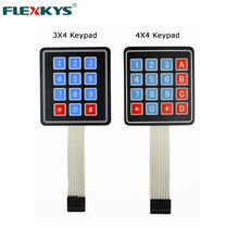 Custom electrical circuits size colorful 4x4 array membrane keypad