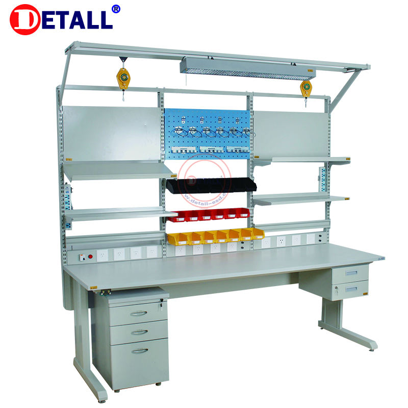 Detall- Used industrial electronic ESD workbenches