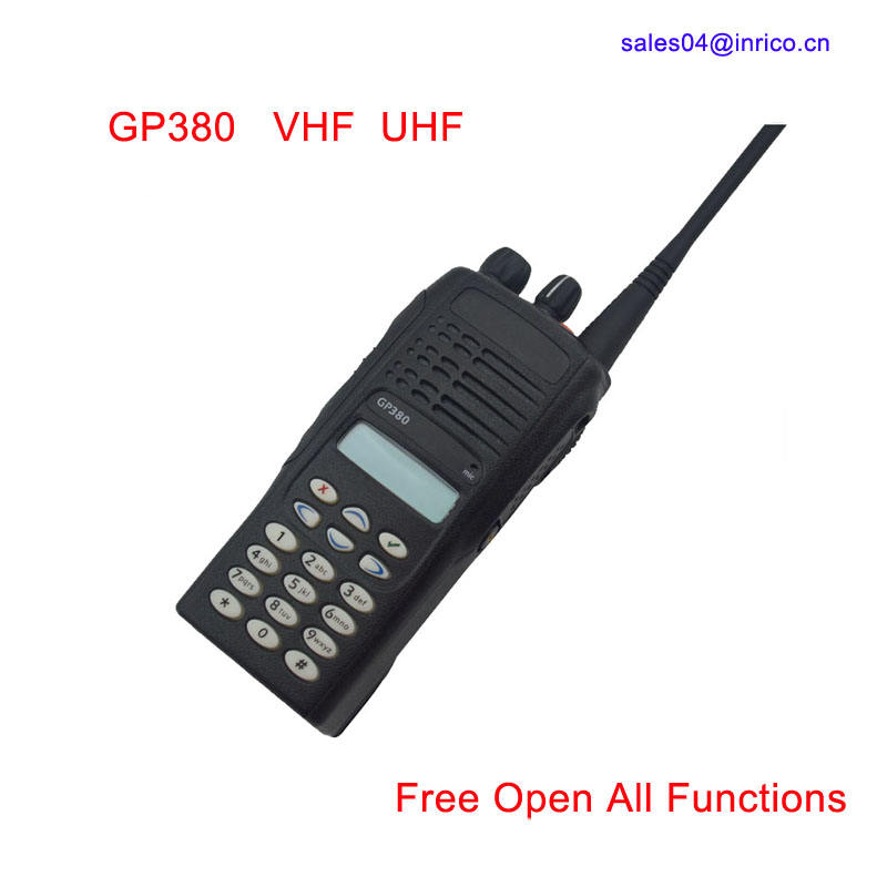 255 kanäle Dual Band UHF <span class=keywords><strong>VHF</strong></span> Tragbaren 2 Way Radio GP380 Handliche Talkie