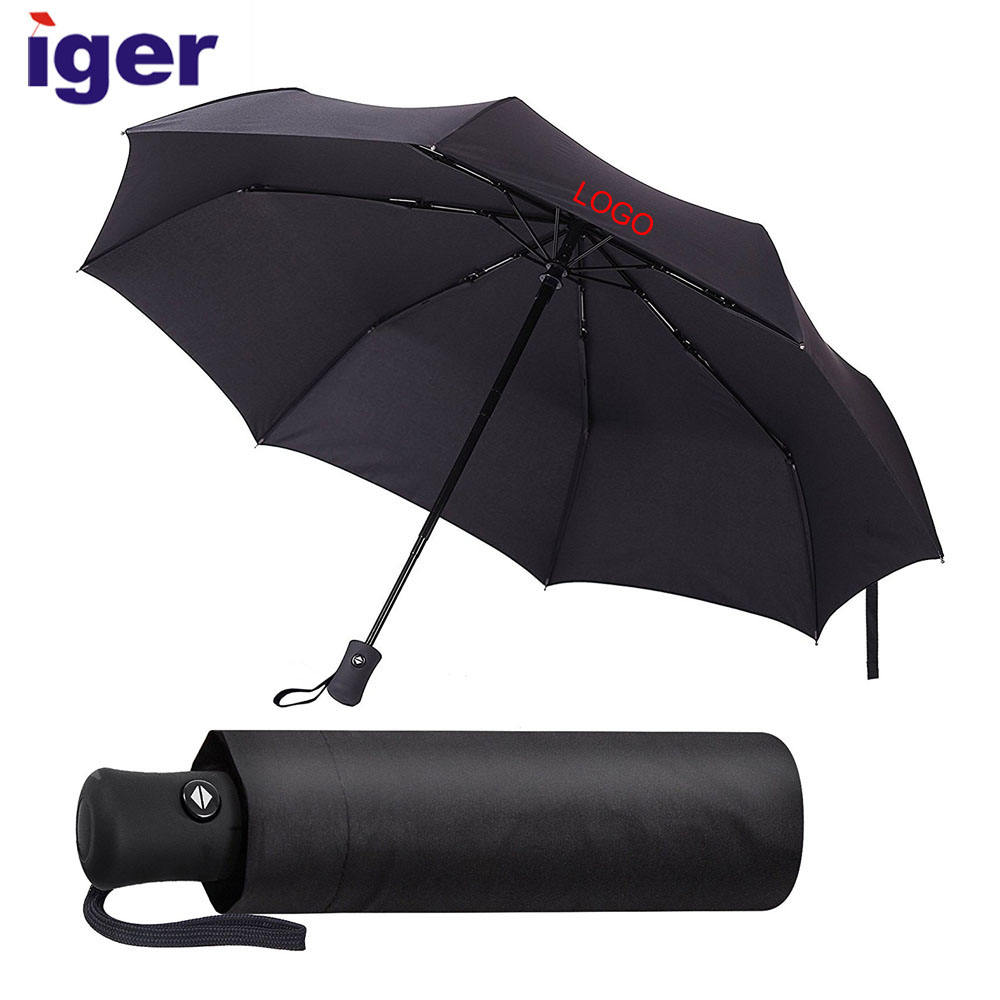 customized wholesale cheap uv unique compact 3 folding mini gift automatic windproof travel rain umbrella