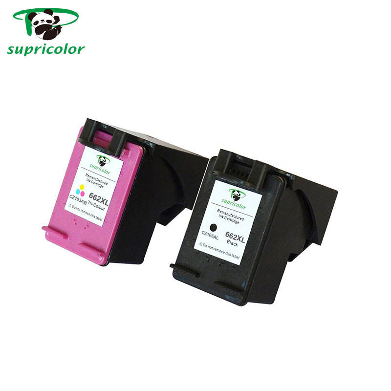 High quality no plug nozzle compatible hp 662 printer ink cartridge