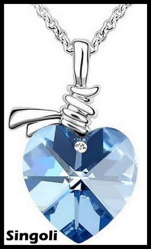 Collier de mode new 2014 frais, haute pure argent <span class=keywords><strong>bijoux</strong></span> collier de saphirs
